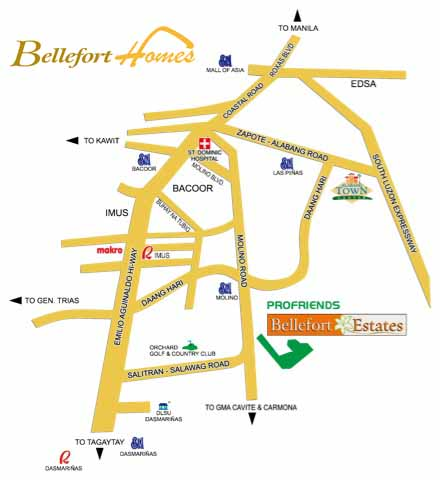 Bellefort Estates Map